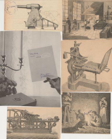 Touchant ensemble de lettres d'amour et divers montages/collages de l'auteur du célèbre auteur de sciences-fiction belge
