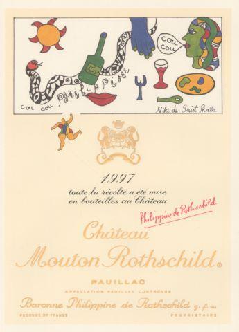 Étiquette de bouteille Château Mouton Rothschild
