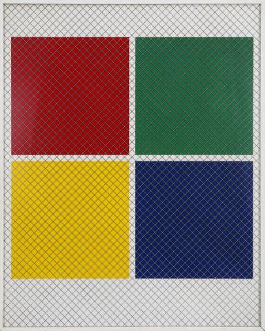 """Grillage quatre couleurs, de la suite """"Enquête Emmy de Martelaere"""""""