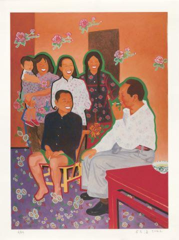 Mao discutant avec des paysans