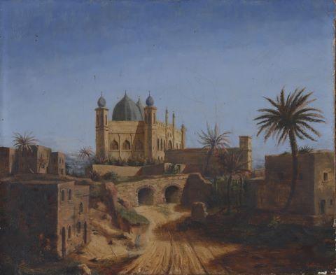 Vue d'une mosquée en Inde