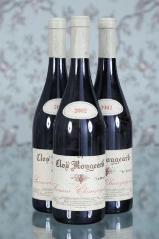 3 bouteilles 2002, Clos Rougeard (Frères Foucault)