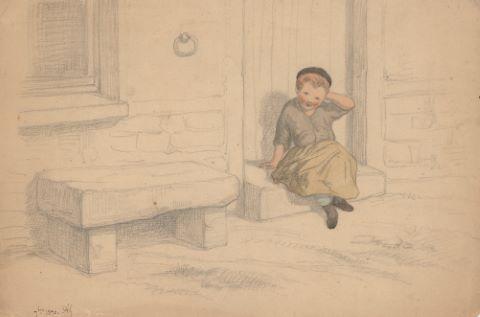Petit garçon assis