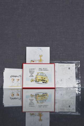 Important ensemble d'illustrations originales, dessins de presse et sérigraphie numérotée et signée