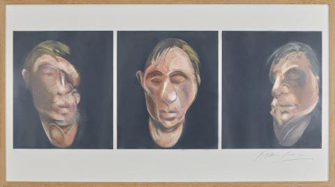 Trois études pour un autoportrait, d'après l'œuvre Three Studies for a Self-Portrait de 1983