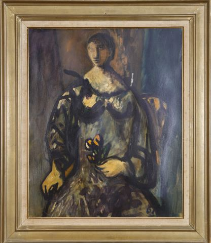 Portrait de femme à la fleur