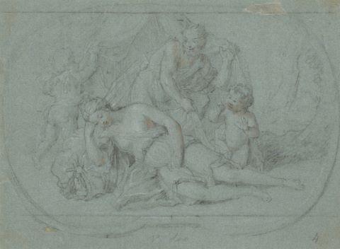 Satyre découvrant une nymphe (2 œuvres); Allégorie avec étude au verso,