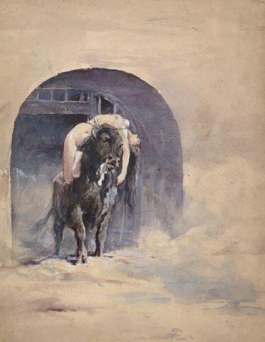 Femme suppliciée dans l'arène (recto), Étude de supplice (verso)