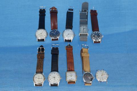 10 montres bracelet d'homme