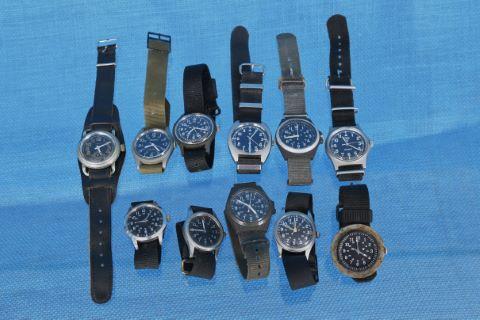 11 montres militaires