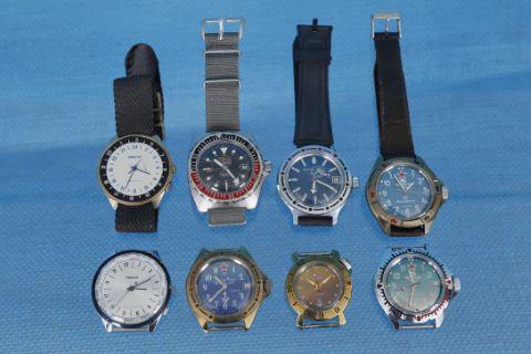 8 montres militaires de plongée ou de parachutistes