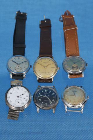 6 montres bracelet d'homme