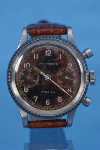 Chronographe bracelet de pilote de chasse, modèle type 20