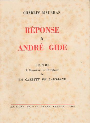 Réponse à André Gide