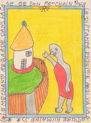 Le Méchant regarde dans la case de son prochain pour le diffamer ensuite ainsi va la nature humaine