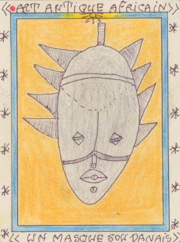 Art antique africain, un masque soudanais