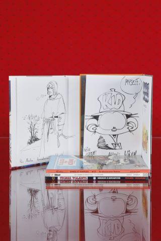 5 albums dédicacés