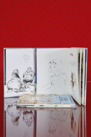 4 albums dédicacés