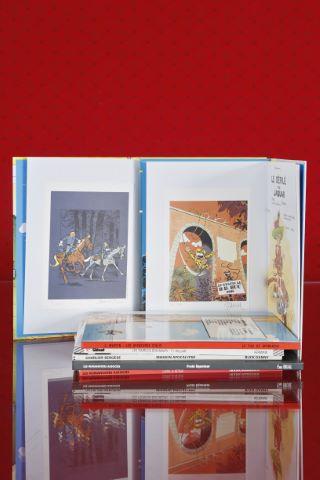 7 albums avec ex-libris signés