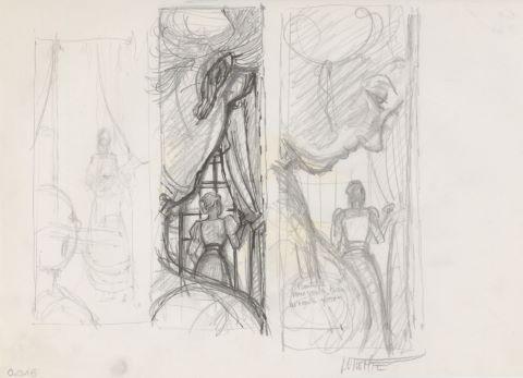 Sasmira - trois crayonnés
