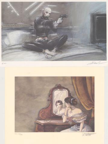 4 estampes signées