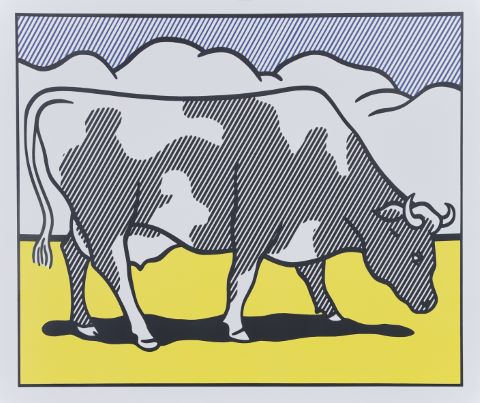 Cow going abstract (triptyque)