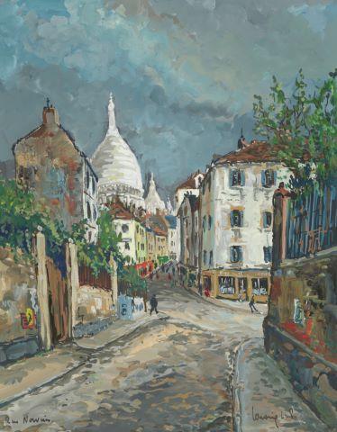 Rue Narvins à Montmartre