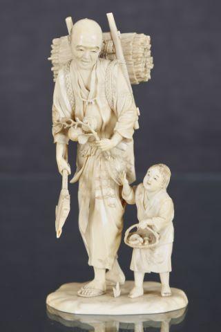 Bûcheron et son enfant