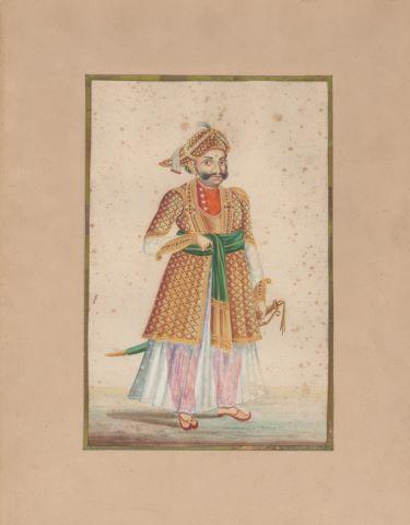 Portrait de dignitaire costumé en pied