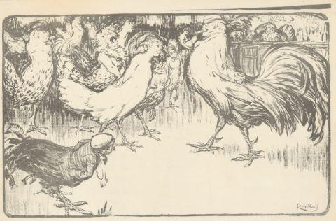 Le Coq et les poulettes