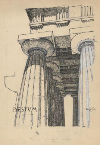 Colonnes doriques du temple de Pæstum