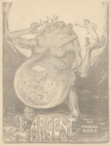 L'Argent, couverture de l'Assiette au Beurre n°41 - épreuve avant mise en couleur