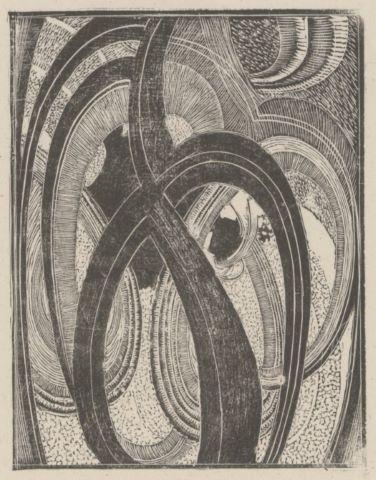 Projet de carton d'invitation d'une exposition à la galerie Povolovzky