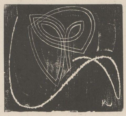 Projet de carton d'invitation d'une exposition à la galerie Povolovzky - version probablement non retenue [3 épreuves]