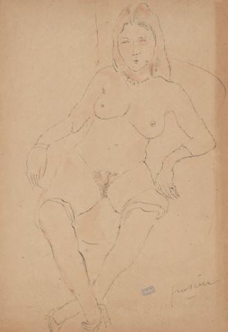 Femme posant nue