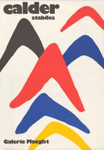 2 affiches d'exposition à la Galerie Maeght (Paris)