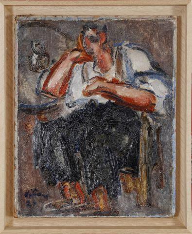 Homme accoudé & Portrait de femme (recto/verso)