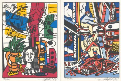Hommage à Fernand Léger [4 œuvres]