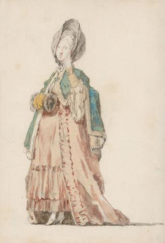 Portrait de femme au manchon en pied