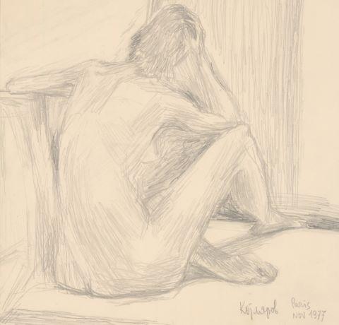 Étude de nu (recto/verso)