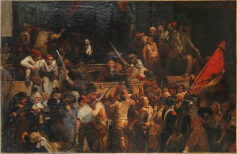 Scène d'émeute révolutionnaire