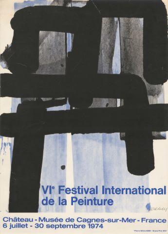 Affiche du VIe Festival International de la Peinture 1974