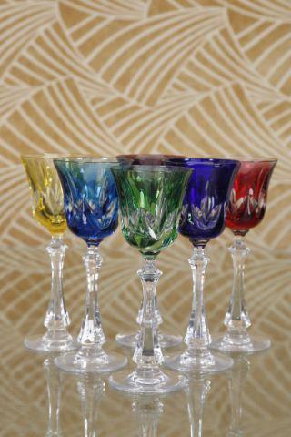 6 verres à vin du Rhin