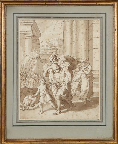 Énée portant Anchise fuyant Troie