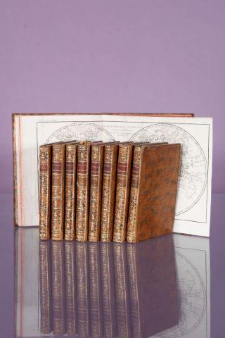Histoire philosophique et politique des établissements et du commerce des Européens dans les deux Indes, 7 volumes + leur Atlas + L'Analyse