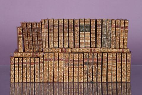 Important ensemble d'environ 53 ouvrages du XVIIIe siècle