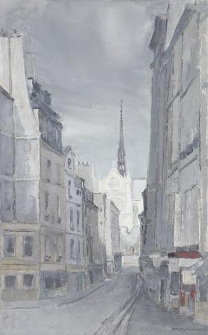 Notre-Dame de Paris vue depuis la place Maubert
