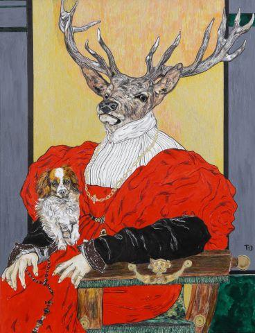 Portrait de la Dame en rouge, d'après Bronzino