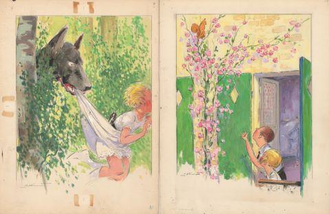 5 illustrations pour Les Malheurs de Sophie, éd. Hachette