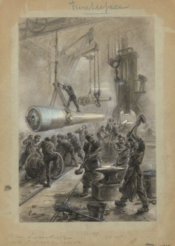 Illustration pour les cinq cents millions de la Begum de Jules Verne